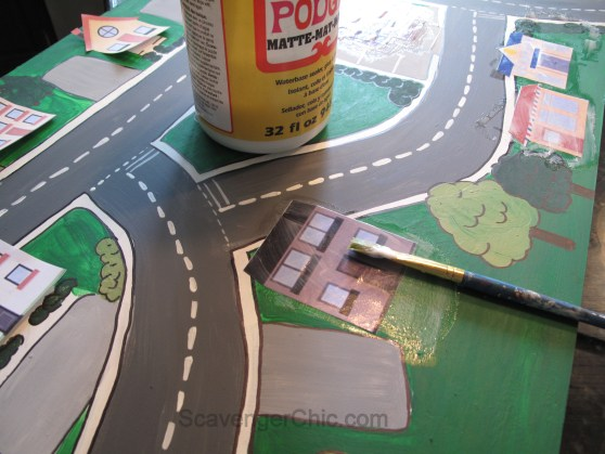 Matchbox Car Play Table, Hand Painted diy