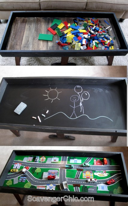Three way convertible Play Table and Coffee Table