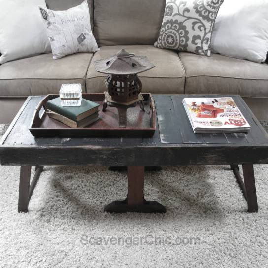 Upcycled Antique Clothes Wringer and Pallets Coffee Table-