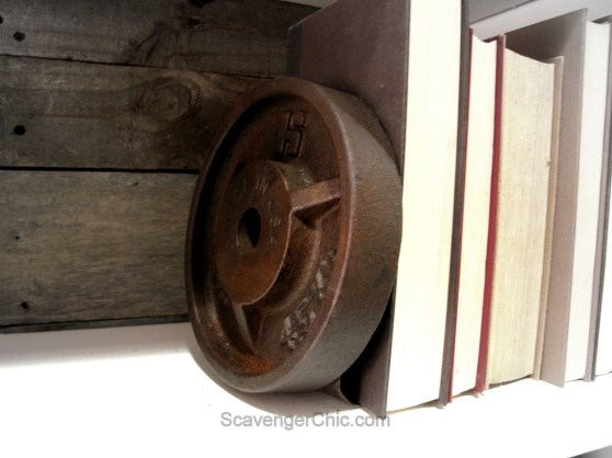 Upcycled, Recycled Weights Book Ends-013