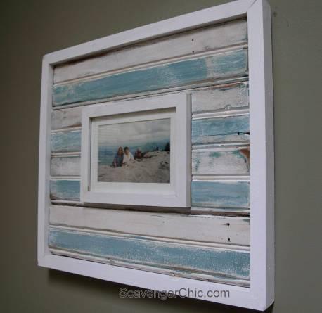 Vintage Bead Board Frame-001