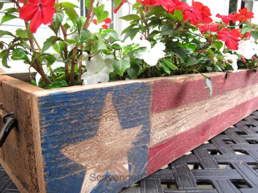 Pallet Wood 4th of July, Memorial Day centerpiece-007