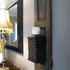 Vintage Shutters Wall Sconce