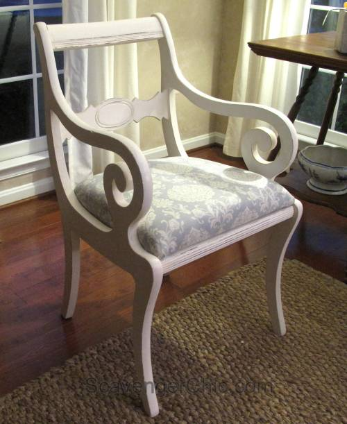 Reupholstered Dining Room Chair diy-013