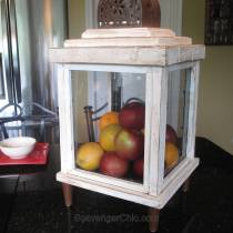 DIY Lantern from scrap wood and frames-016
