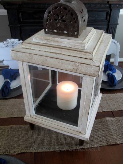 DIY Lantern from scrap wood and frames-018