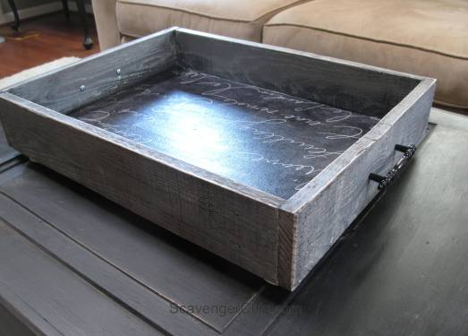 Pallet wood and fabric tray diy-011