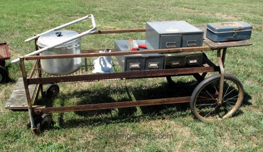 Route 11 Yard Crawl 2016-rusty cart and file boxes