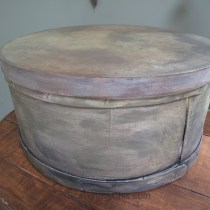 Painting a new cheese box to look old, it's all in the layers