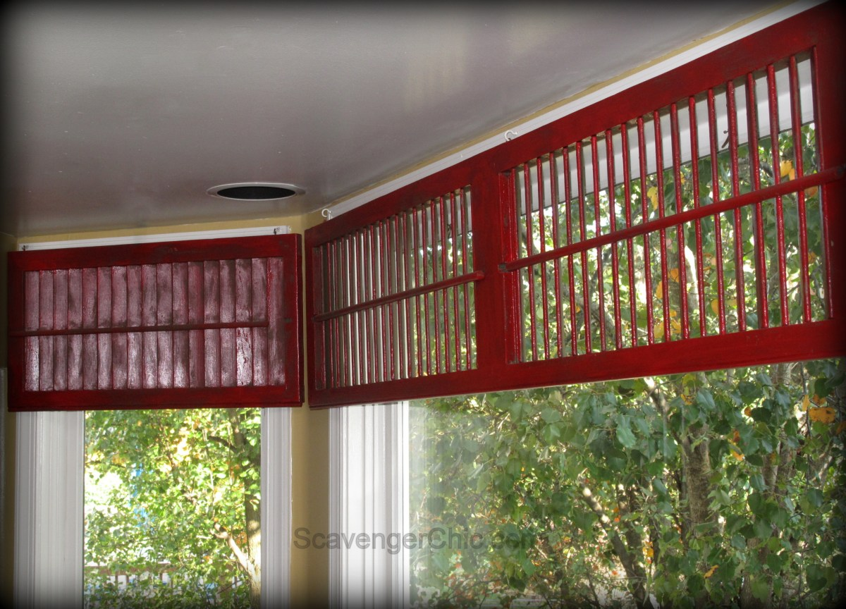 Valances For Windows With Shutters : Easy diy shutter valance scavenger chic