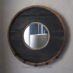 Barrel Hoop Mirror