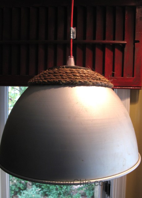 Flea Market Finds, Recycled Pendant Light
