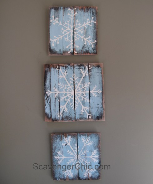 painted-pallet-wood-snowflakes-001