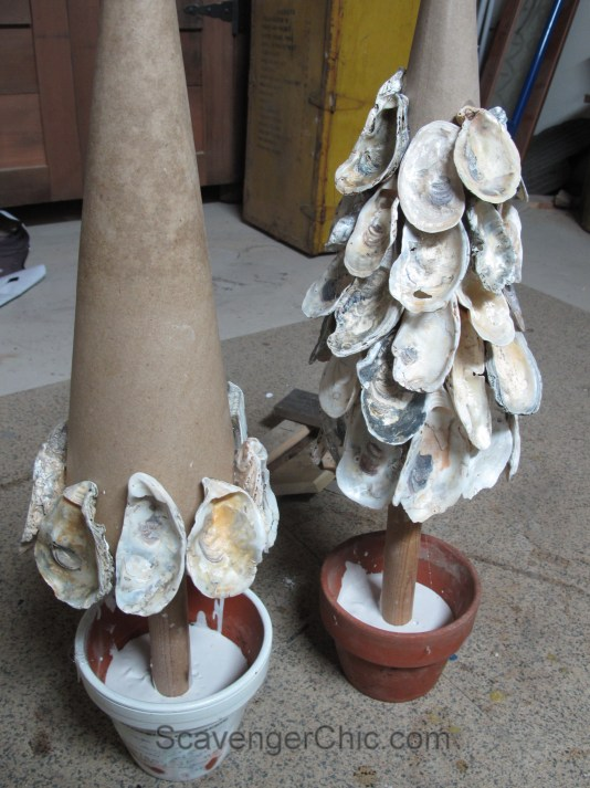 Oyster Shell Tree, beachcombing and seashell projects