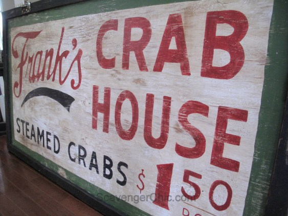 Frank's Crab House Vintage Style Sign diy