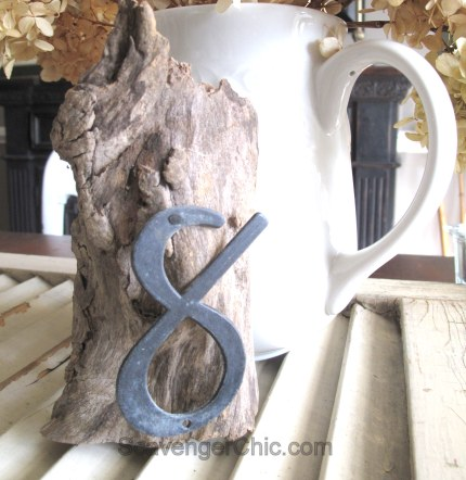 Driftwood Wedding Table Number