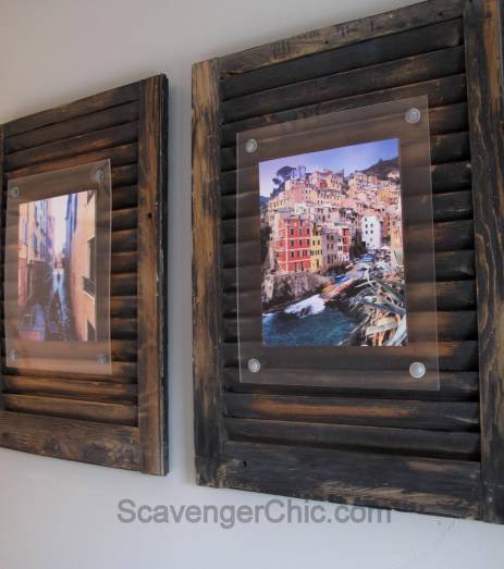 Floating Frame diy, Recycled Vintage Shutter