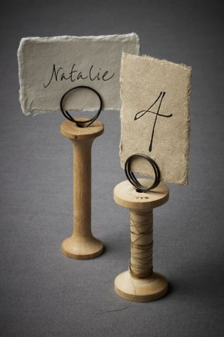 Wooden spool Table Numbers