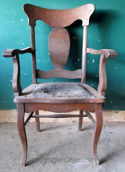 Picking Treasures from an Old Farmhouse, Oak Chair