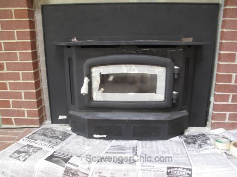 Painting a Brick fireplace surround