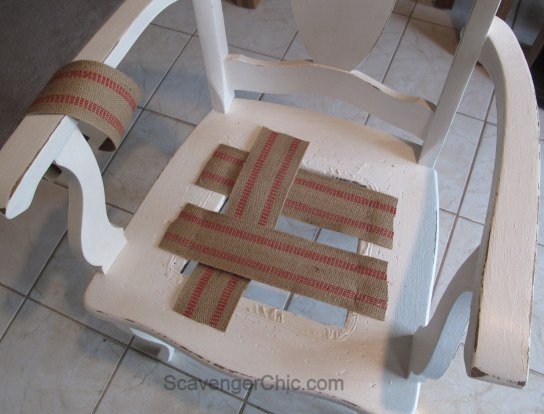 ReReplacing a cane seat with a padded seat cover
