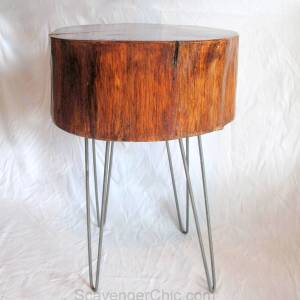 Wood Slice End Table