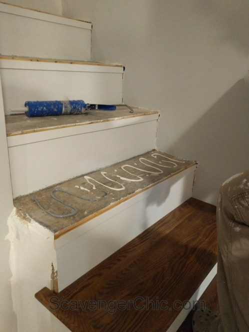 New treads for old stairs, remodel reface and refinish old stairs-017