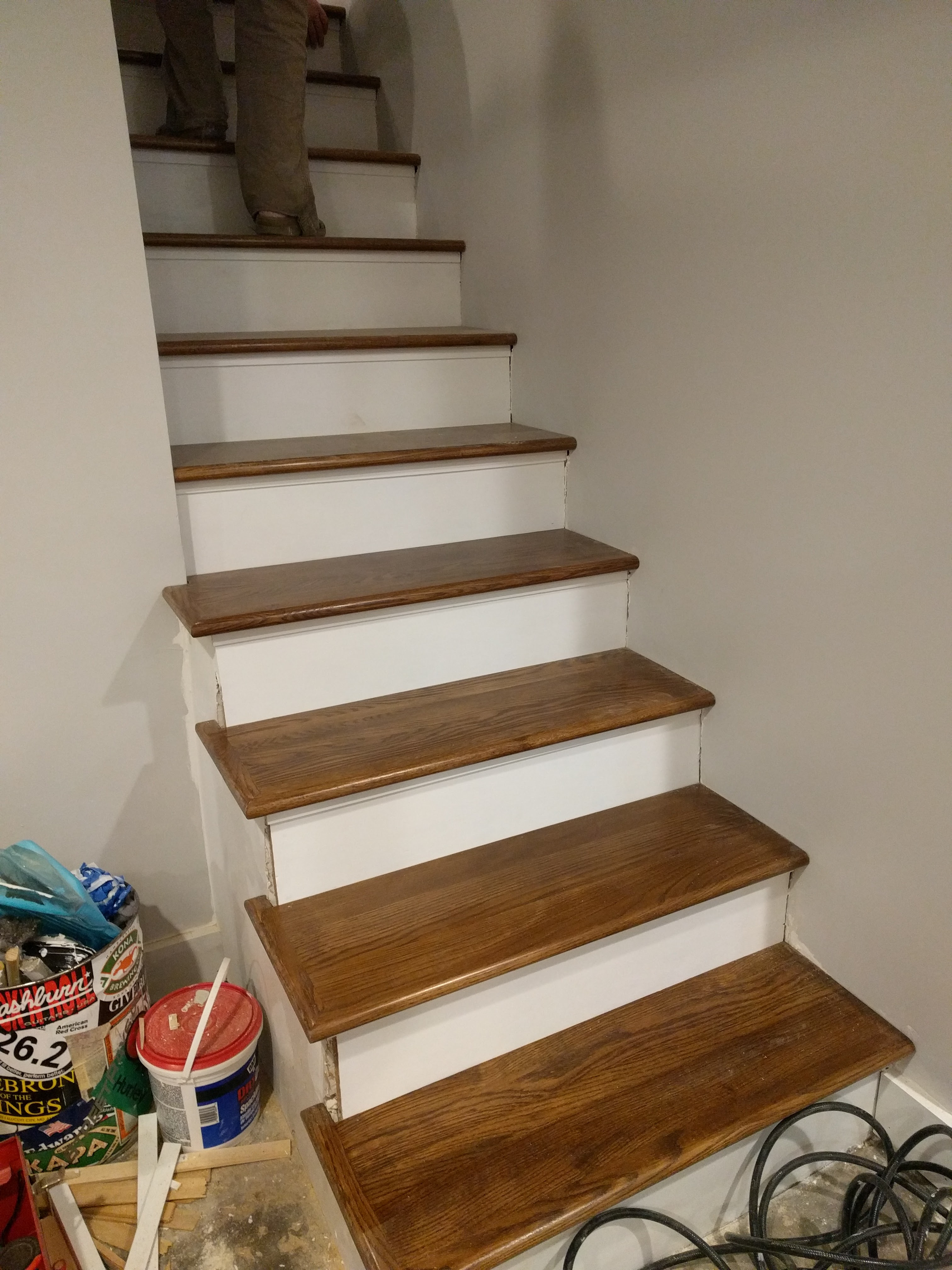 New Treads For Old Stairs, Remodel Reface And Refinish Old ...