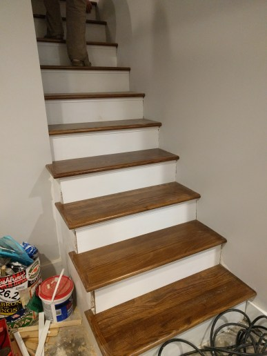 New treads for old stairs, remodel reface and refinish old stairs-019
