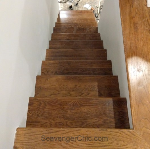 New treads for old stairs, remodel reface and refinish old stairs-020