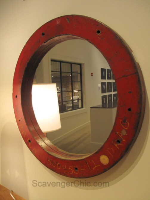Upcycled Vintage Factory Mold Mirror