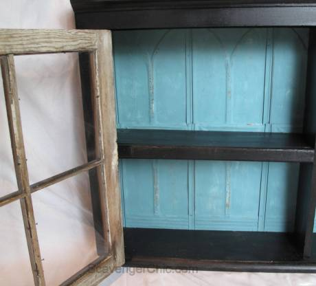 Upcycled Vintage Windows Wall Cabinet