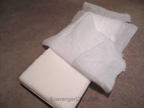 No Sew Padded Bench Cushion DIIY