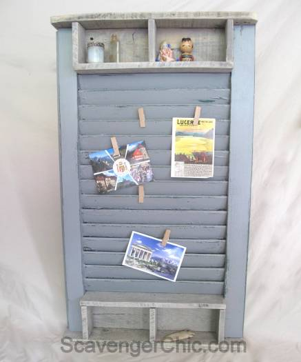 Shutter and Pallet Wood Memo Board diy