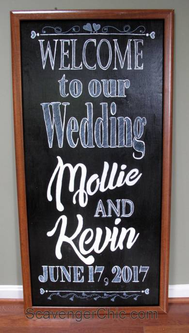 Large Chalkboard Style Wedding Signs diy, Welcome and Trust me you can Dance