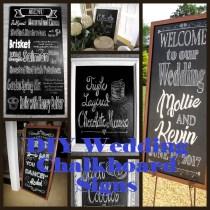 Chalkboard Style Signs
