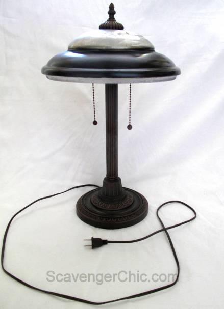 Upcycled V8 hubcap Table Lamp, Desk Lamp