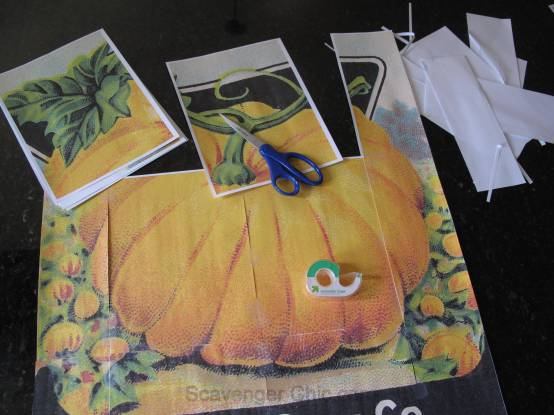 Card Seed Co. Pumpkin Seed Packet Vintage Style Sign DIY