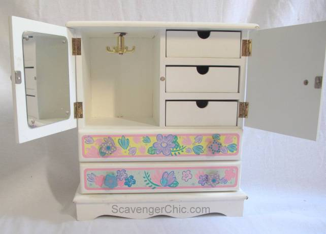 Jewelry Box Makeover, Flower Power to Vintage Chic
