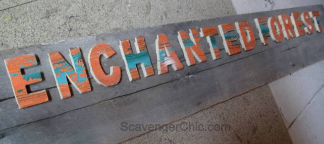 DIY Vintage Sign, Enchanted Forest