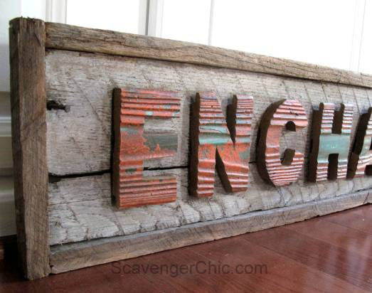 Enchanted Forest Vintage Style Sign DIY, reclaimed wood