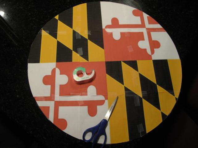 Maryland Flag Pallet Wood Side Table