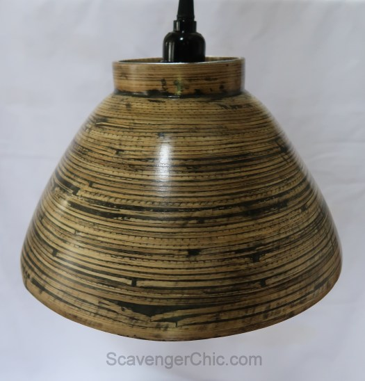 Recycled Bamboo Bowl Pendant Light