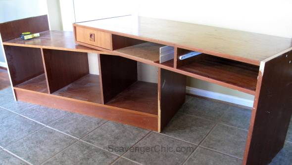 TV Stand Furniture Makeover and Veneer Repair-002