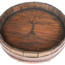 Wine Barrel Lazy Susan made with Pallet wood