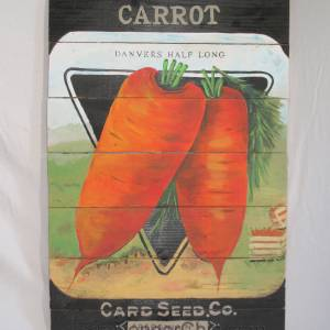 Carrot Seed Packet Sign