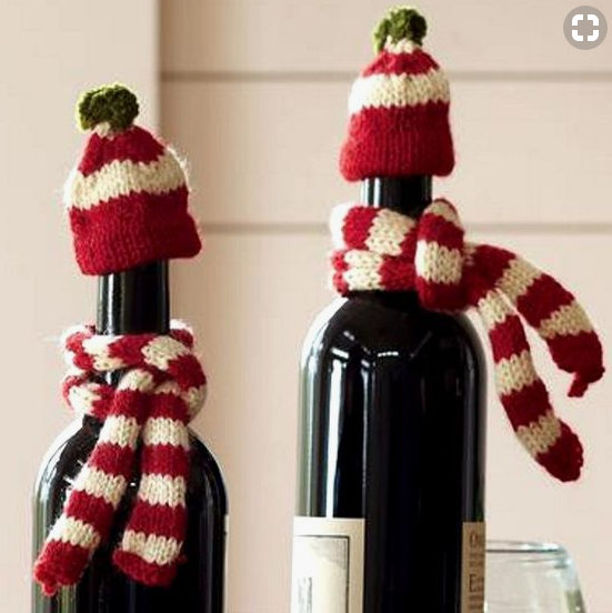 Homemade and DIY Gifts- Gifts of Wine hat and scarf