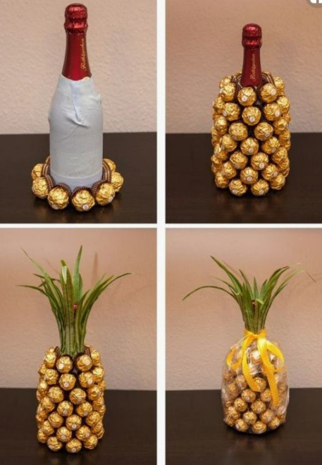 Homemade and DIY Gifts- Pineapple Inspired Wine.bmp