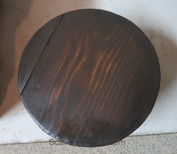 Replacement lid from a belt and scrap wood