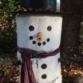 Four foot Log Snowman DIY-